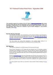 NCP News Sept 2008 (pdf) - Seventh EU Framework Programme ...