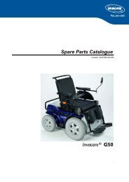 PARTS-PUBLISHER Workbench - Invacare® G50 {#SPLG50}