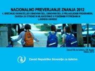4. srečanje ravnateljev OŠ - Zavod RS za šolstvo