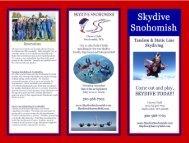 Skydiving Brochure (PDF) - Skydive Snohomish