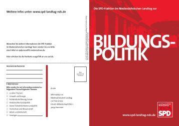 Bildungspolitik - Daniela Behrens