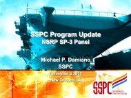 SSPC Program Update - NSRP