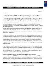 Les mer i pressemeldingen fra Andøya Rakettskytefelt AS
