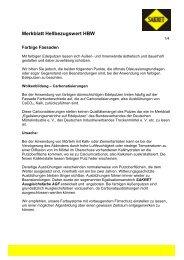 Merkblatt Hellbezugswert HBW - SAKRET GmbH