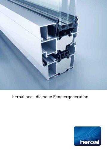 heroal neo – die neue Fenstergeneration - FTF Sander