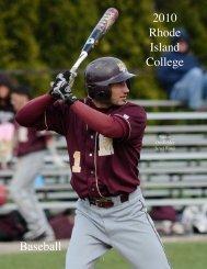 The 2010 Rhode Island College Baseball Team