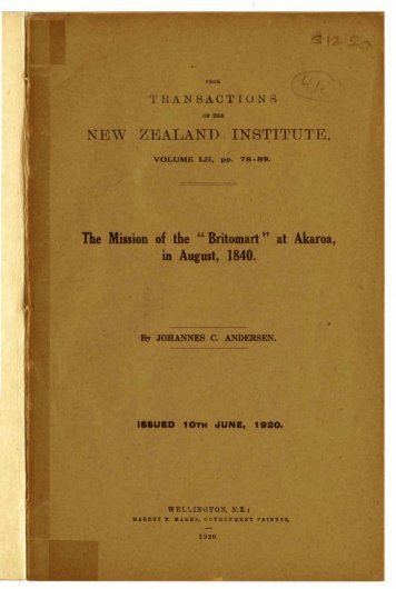 Mission of the Britomart at Akaroa - Christchurch City Libraries
