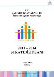 Stratejik Plan - Kadıköy İlçe Milli Eğitim Müdürlüğü