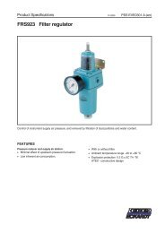 FRS923 Filter regulator