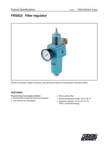 FRS923 Filter regulator