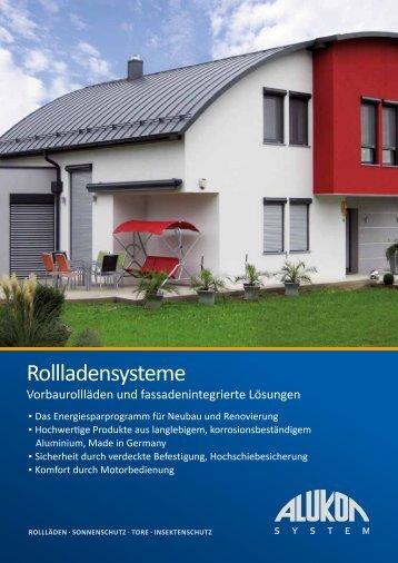 Rollladensysteme - Alukon GmbH & Co. KG