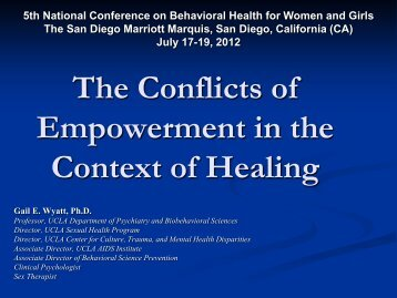 Health, Empowerment, Resilience, and Recovery Occur in the ...