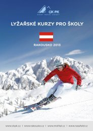lyžařské kurzy pro školy rakousko 2013 - CKPK