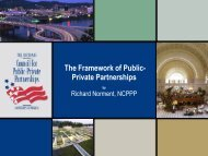 The Framework of Public- Private Partnerships