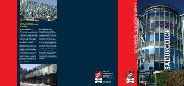 Sadurcolor FP - emaillierte Fassadenplatten - CONSAFIS