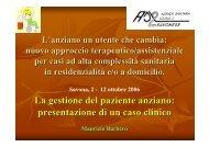 La gestione del paziente anziano: presentazione di un caso clinico