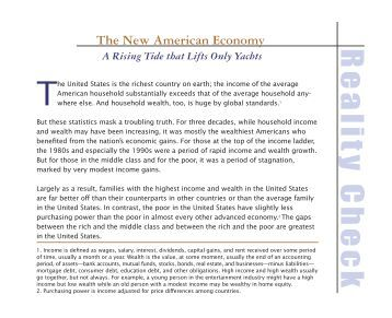 The New American Economy: A Rising Tide that Lifts Only Yachts