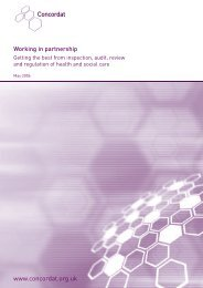 Working in partnership: Getting the best from inspection, audit ...