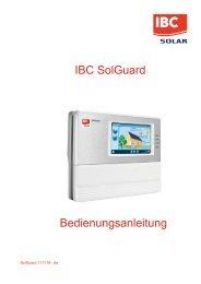 IBC SolGuard Bedienungsanleitung - NwComp Solar