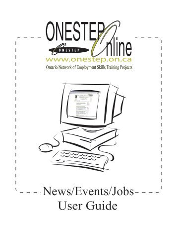 User Guide News/Events/Jobs - ONESTEP
