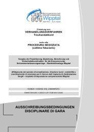 Ausschreibungsbedingungen - Bezirksgemeinschaft Wipptal