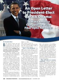 An Open Letter to President-Elect Barack Obama: - Broadband ...