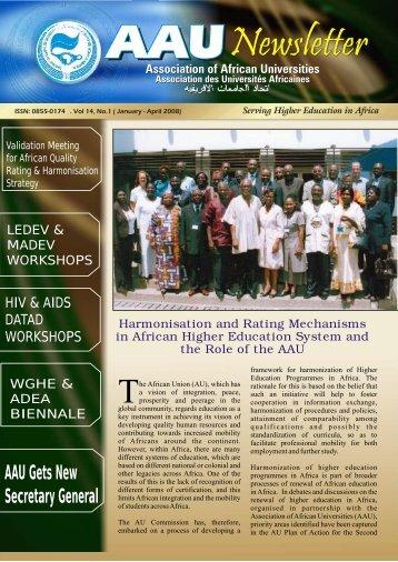 Vol.14 No 1 - AAU Resource Center - Association of African ...