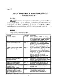 Ghid de management in hemoragiile digestive - Spitalul Clinic ...