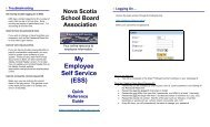 My Employee Self Service (ESS)