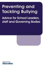 Preventing and Tackling Bullying - EACH