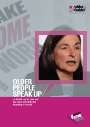 Older People Speak Up: on health, social care ... - Older and Bolder