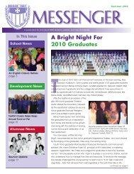 Summer 2010 Messenger - Mount St. Mary Academy - Website
