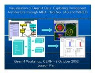 Visualization of Geant4 Data: Exploiting ... - Geant4 - CERN