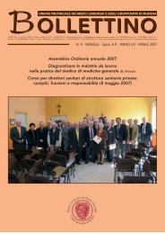 Aprile 2007 (pdf - 540 KB) - Ordine Provinciale dei Medici Chirurghi ...