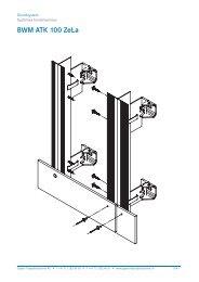 Schnittzeichnung BWM ATK 100 ZeLa - Gasser Fassadentechnik