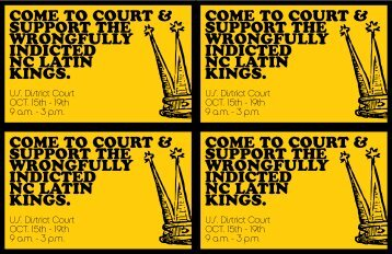 come to court & support the wrongfully indicted nc latin ... - Zine Library