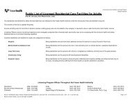 Public List of Licensed Residential Care Facilities for ... - Fraser Health