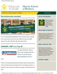 Stories of Revolutionary Thinking - Mason School of Business