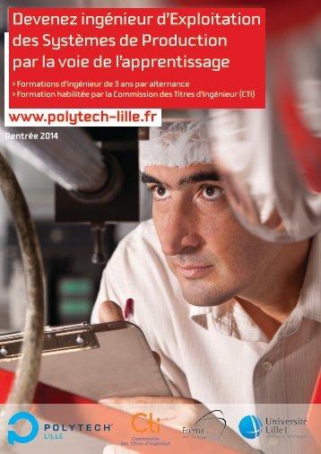 Devenez ingénieur d'Exploitation des Systèmes de ... - Polytech'Lille