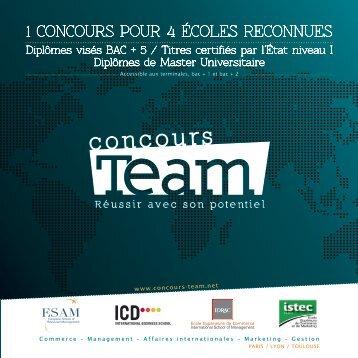 PLAQUETTE concours team - L'Etudiant