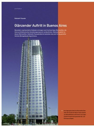Bericht fassadentechnik Ausgabe 6/2008 (PDF 32 KB