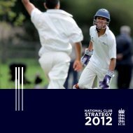 STRATEGY - Ecb - England and Wales Cricket Board