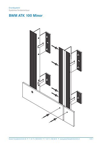 Schnittzeichnung BWM ATK 100 Minor - Gasser Fassadentechnik