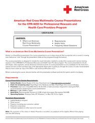 American Red Cross Multimedia Course ... - Instructor's Corner