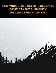 new york state olympic regional development authority 2011-2012 ...