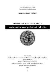 BAKALÁŘSKÁ PRÁCE - KSI - Univerzita Karlova