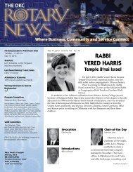 RaBBI VERED HaRRIs - Rotary Club of Oklahoma City