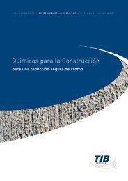 Químicos para la Construcción - TIB Chemicals AG