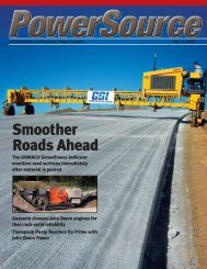 Smoother Roads Ahead - John Deere Industrial Engines