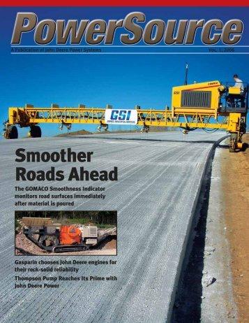 Smoother Roads Ahead - John Deere Industrial Engines